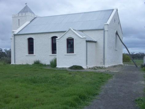 The restored church at Ebenezer Mission