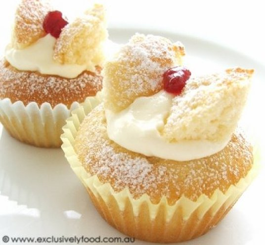 Oh how I loved Butterfly cakes! From the CWA Cookbook.