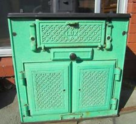 Old Lux fuel stove, an integral part of my cookbook nostalgia.
