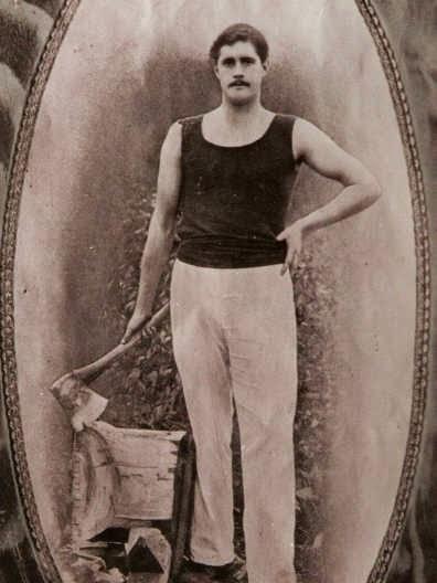 Jack Calder, one of the Tasmanian axemen  lost at sea.