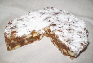 Panforte, a delicious specialty of Siena.
