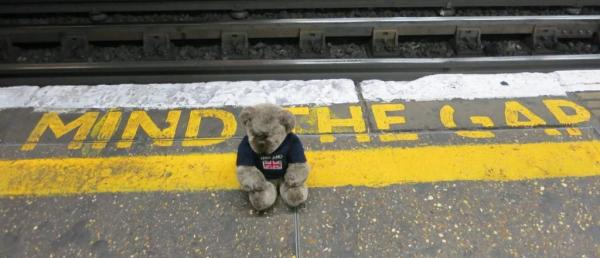 My associate Editor Des - Unknown location within the London Underground.