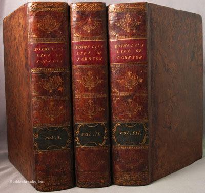 The three Vol. biography of Dr Samuel Johnson