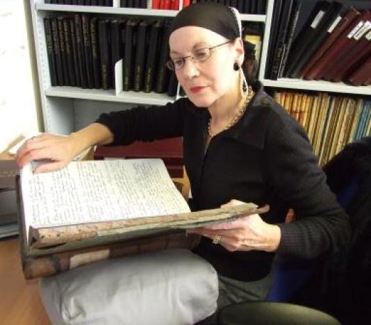 Immersed in solicitor William Sprot's letter books researching the Porter family.