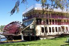 Paddle Steamer on the Murray.