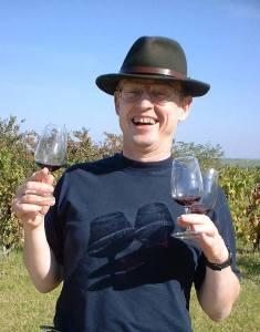 Mike, appreciator of fine wines....when senses allow! (Courtesy of Suki White)