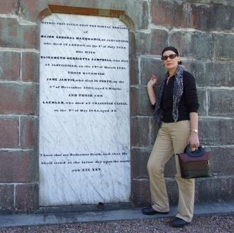 Author at the Macquarie Mausoleum on the Isle of Mill
