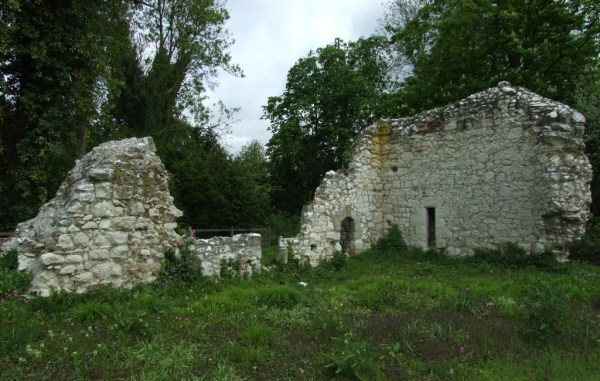 The crumbling ruins of  St Mary's priory.