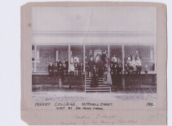 The auspicious opening of the college by Sir Henry Parkes.