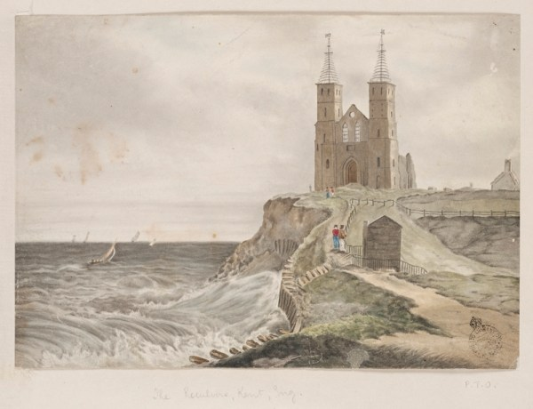 The mystery watercolour that is said to have inspired the spires of St. John's Church at Parramatta.