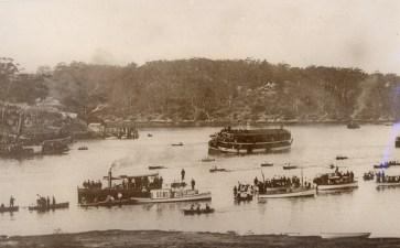 Ferries plying Parramatta River
