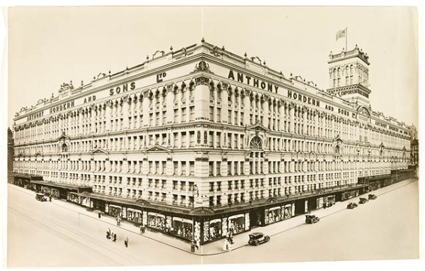 Anthony Horden's store in Sydney, where my uncle Laurie was employed