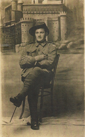 Private Singleton in 1916 after being evacuated from Gallipoli.