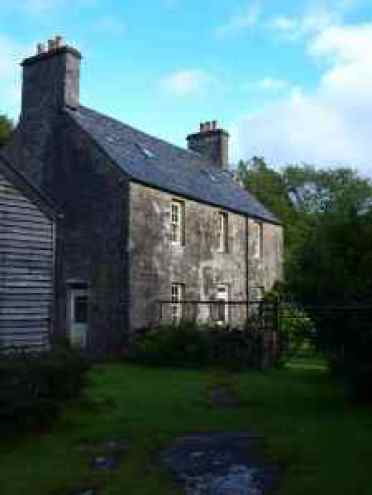 Grulne House on the Jarvisfield Estate. where Elizabeth and Lachlan Macquarie lived after returning to Mull..