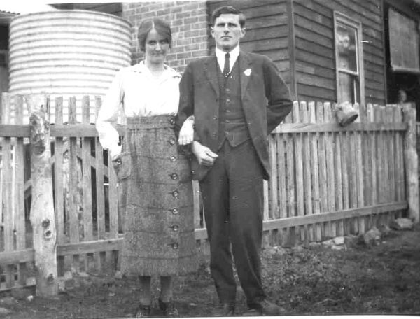 Duncan 'Sapper' McRae and his wife Mary.