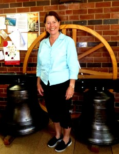 Anne Bell, between the two largest bells.