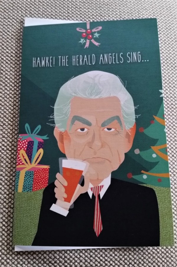 Bob Hawke Christmas card.