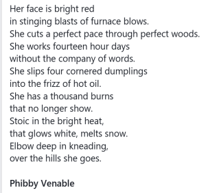 Poem about Christmas by Phibby Venable
