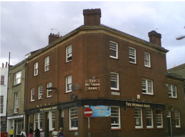 The Norman Arms at St. Leonards, where the inquest was held.