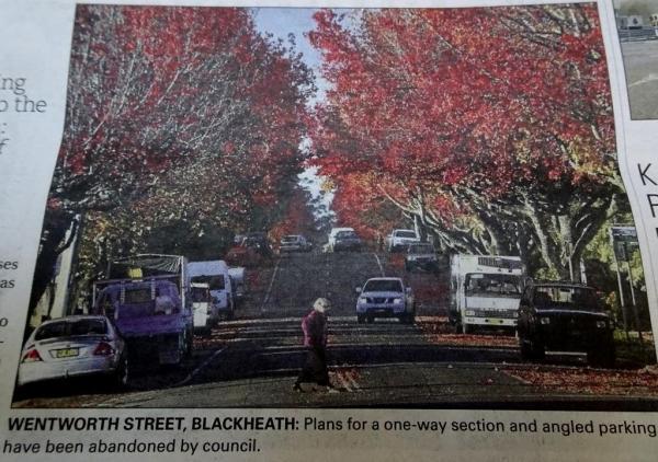 Blue Mountains Gazette, showing Wentworth Street