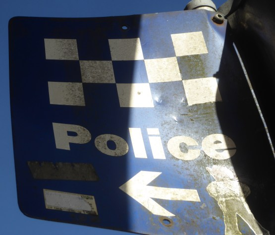 Blackheath police sign....where is the Bobby?