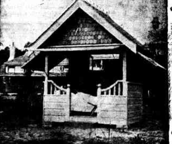 Patient in a chalet at the Queen Victoria sanatorium near Wentworth Falls