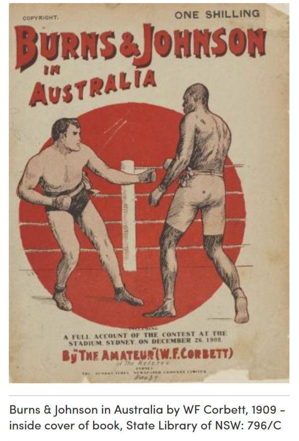 Burns v Johnson fight in Sydney 1908