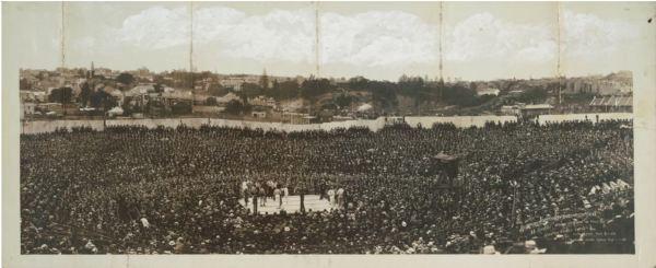 Johnson V Burns fight i Sydney 1908