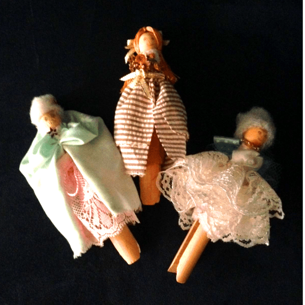 Modern peg dollies.