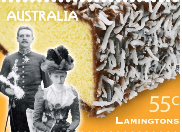 Stamp featuring the Lamington