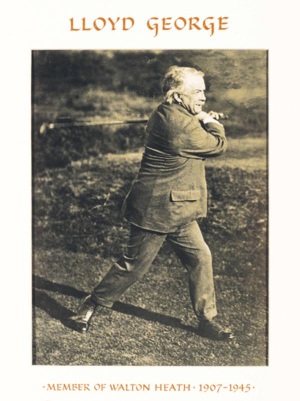 David Lloyd George playing golf at Walton Heath
