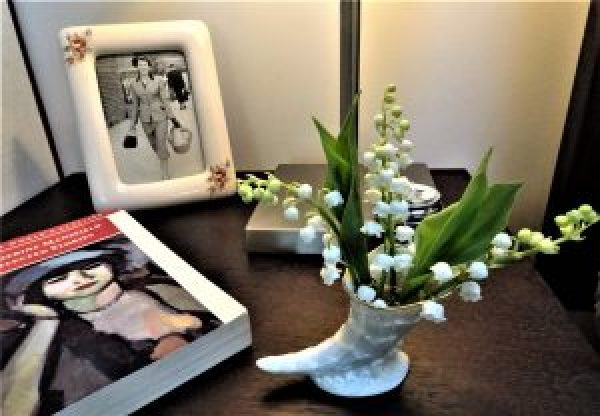 Lily-of-the-valley  bedside posy.