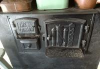 Blast furnace stove.