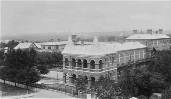 Adelaide Hospital, where tickets were issued for visiting  the sick.