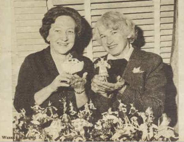 Making Mountain Devil toys for charity in the 1960s