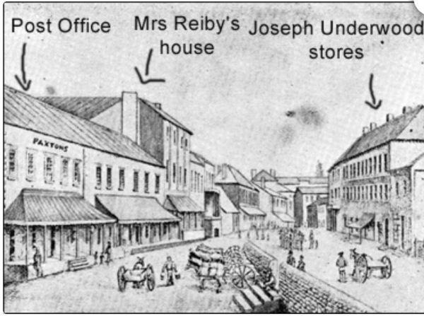 Lower George Street Sydney 1840s