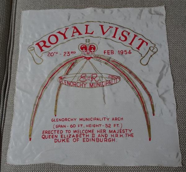 Souvenir of 1954 royal tour.