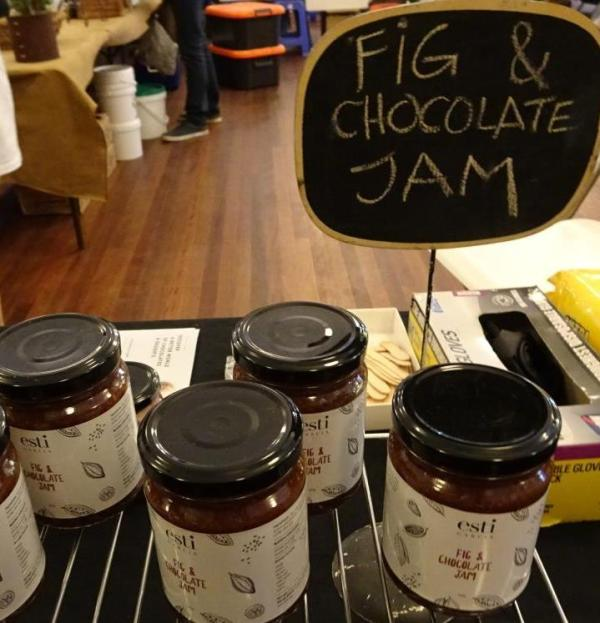 Fig and chocolate jam at Blackheath Farmers' Market.