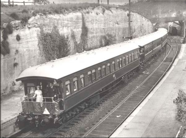 Royal train at Mount Victoria 1954