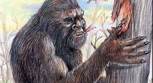 The mythical beast Yowie, now unknown in Sydney but often sighted in the Blue Mountains.