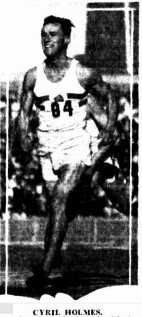 English runner Cyril Holmes