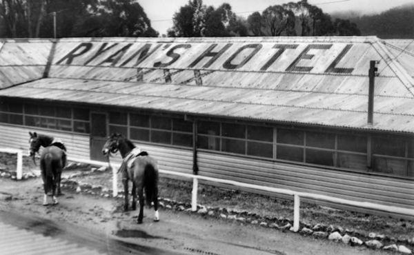 WWII fake hotel at Marrangaroo during WWII