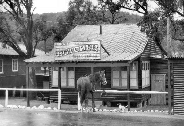 Fake butcher's shop at Marrangaroo
