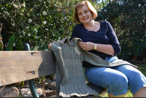 WWI jumper knitted by a POW