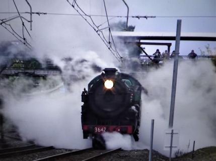 Steam train at Blackheath station NSW