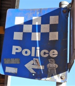 Fake Police sign in Blackheath NSW