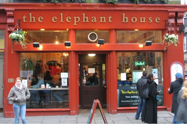 The Elephant House, where J.K. Rowling liked to write.