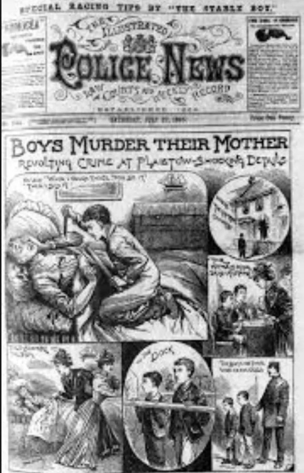 Newspaper coverage of the murder Robert Coombs was charged with.