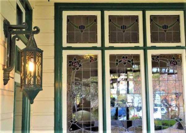 Stained glass window at Genella, Blckheath NSW