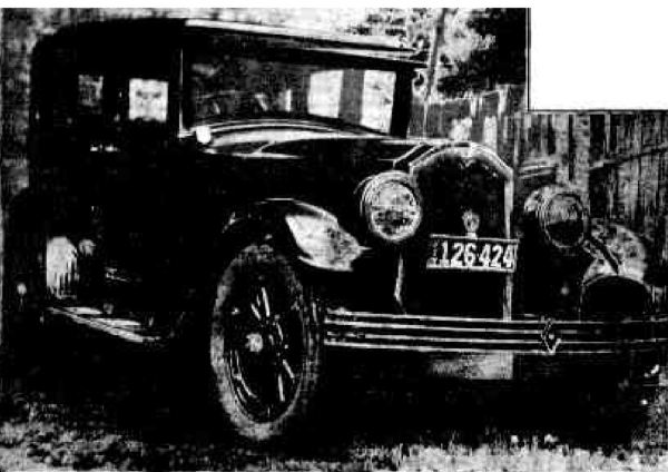 Ronald Leslie's Car 1917